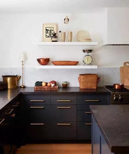Cocina dorado y negro