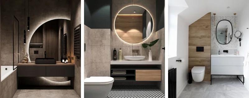 Espejos en baños estilo industrial