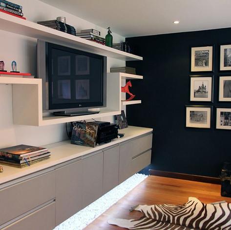Remodelación integral Apartamento Larsen Sala de tv