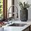 Grifería lavaplatos monocontrol extensible Línea Sibel abiente ventana