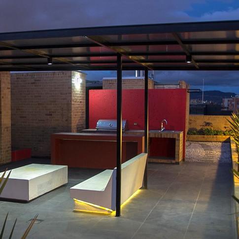 Diseño y construcción edificio BQ 85 Terraza Bbq