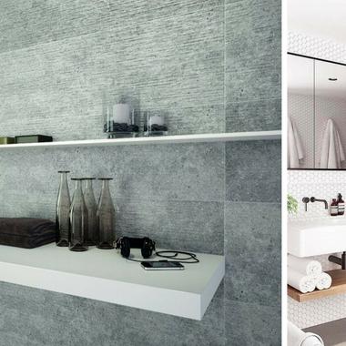 Diseño de baños en paletas de grises