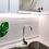 Grifería lavaplatos monocontrol Línea Dessin Cromo ambiente blanco