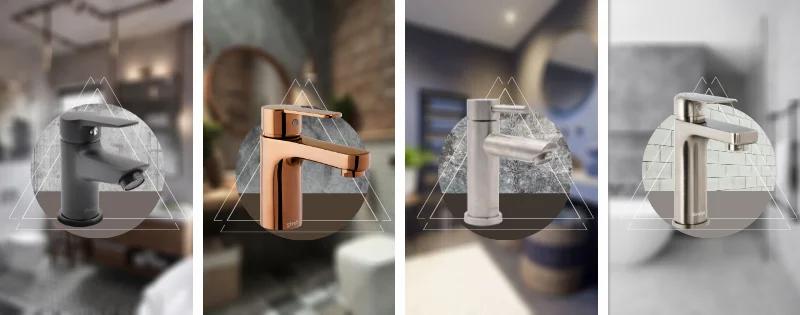 Griferías para lavamanos para baños estilo industrial
