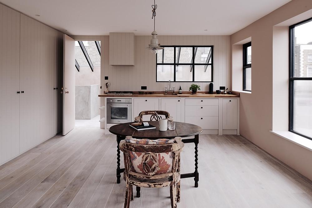 Cocina rústica blush