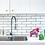 Grifería lavaplatos monocontrol extensible Línea Sibel ambiente ladrillos