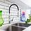 Grifería lavaplatos monocontrol extensible Línea Exo ambiente ladrillo