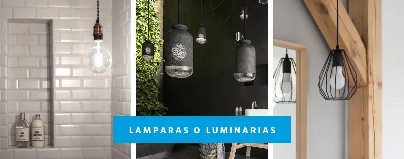 Iluminación en baños estilo industrial