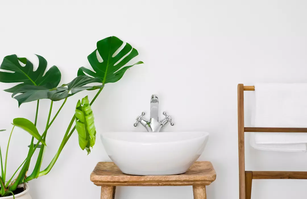 Mueble rústico de baño