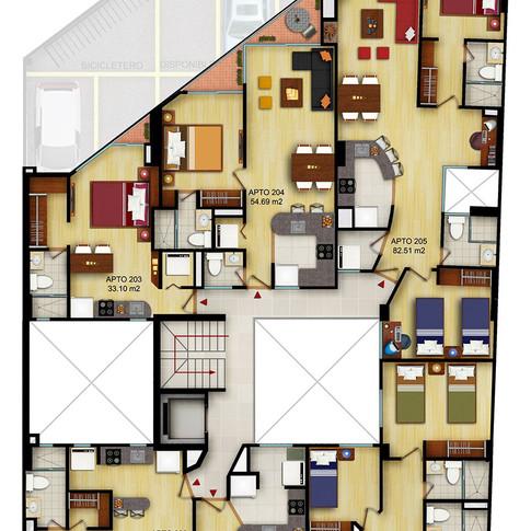 Diseño y construcción edificio BQ 54 Planos