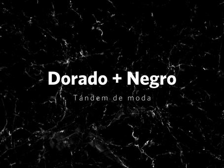 Dorado + negro, tándem de moda en el diseño del baño y la cocina