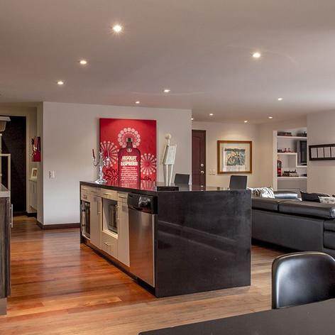 Remodelación integral Apartamento Larsen Cocina y sala