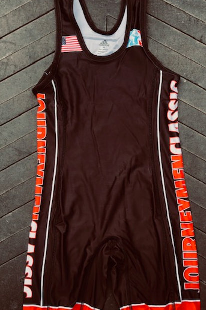 Black and Red Journeymen Classic Singlet