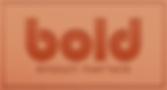 Bold bronze partner logo