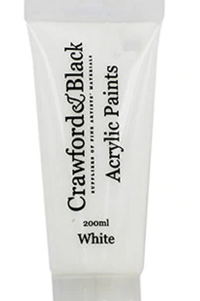 White Acrylic Paint 200ml