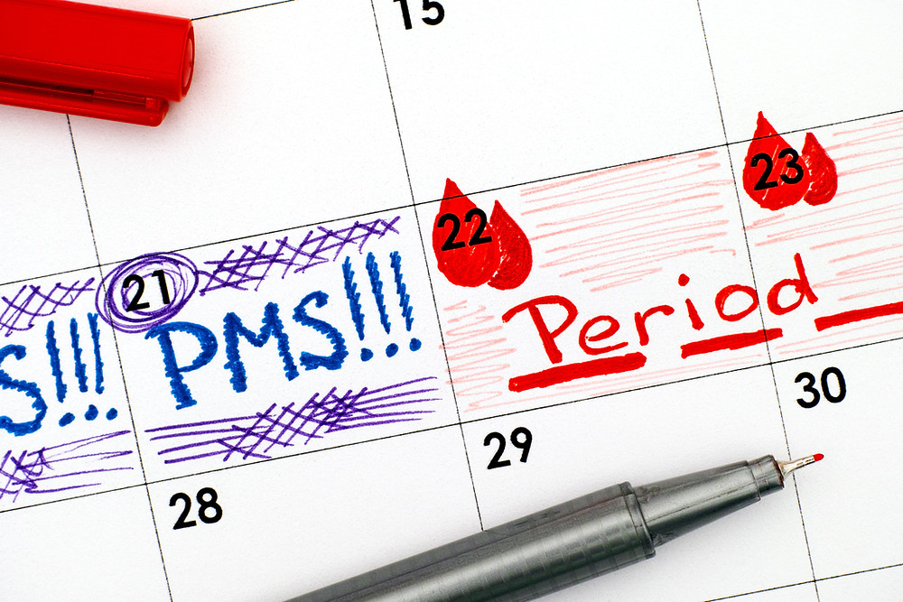Calendar that counts down the days until period