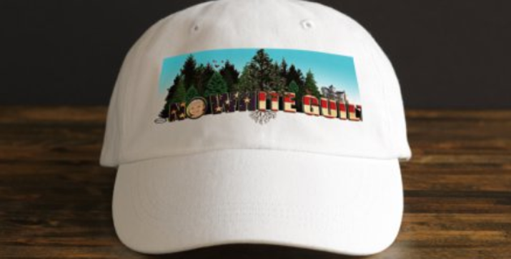 Coming Home Graphic White Baseball Cap