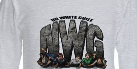 Squashing Skeptics Commemorative Graphic Men's T-Shirt Long Sleeve - Gray