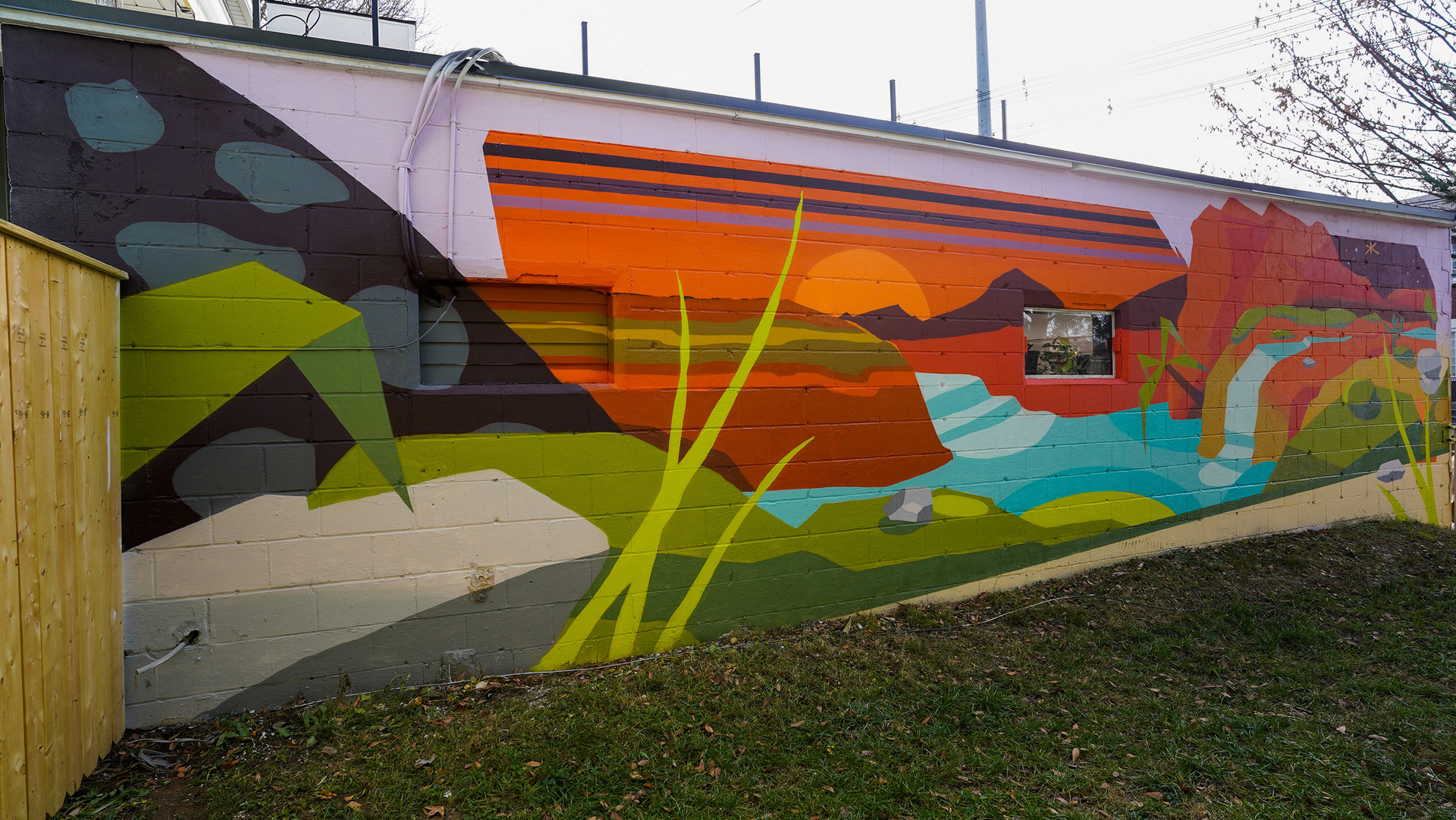 Home Skateshop Mural