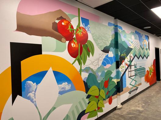 Appharvest interior mural detail