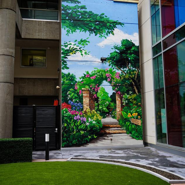 Norton Courtyard Secret Garden Mural