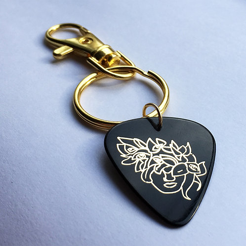 Guitar Pick Key Chain