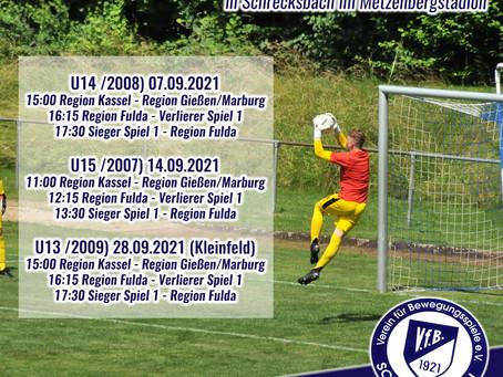Regionalauswahl-Turniere U13/U14/U15-im Metzenbergstadion Schrecksbach