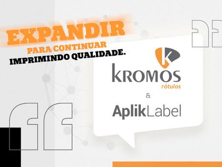 Grupo Kromos expande sua divisão de rotulagem e manuseio de embalagens, a Aplik Label!
