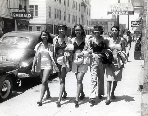 Sunbathers strolling Kentucky Avenue.tif