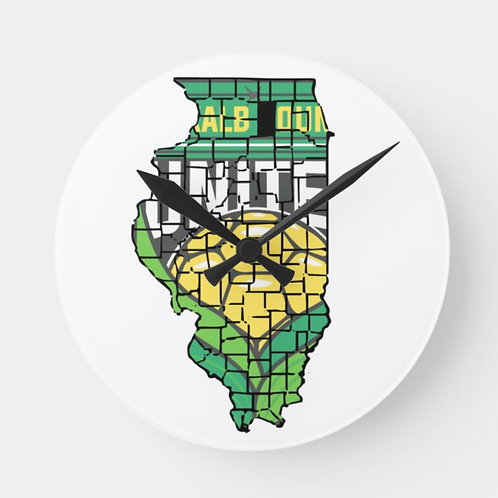 IL Outline Wall Clock