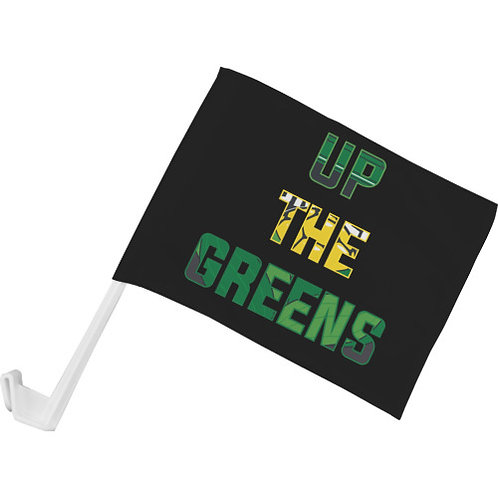 """Up The Greens"" Car Flag"