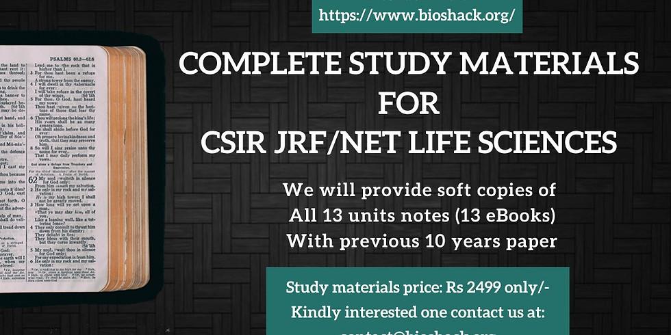 CSIR JRF/NET Life Sciences Study Materials