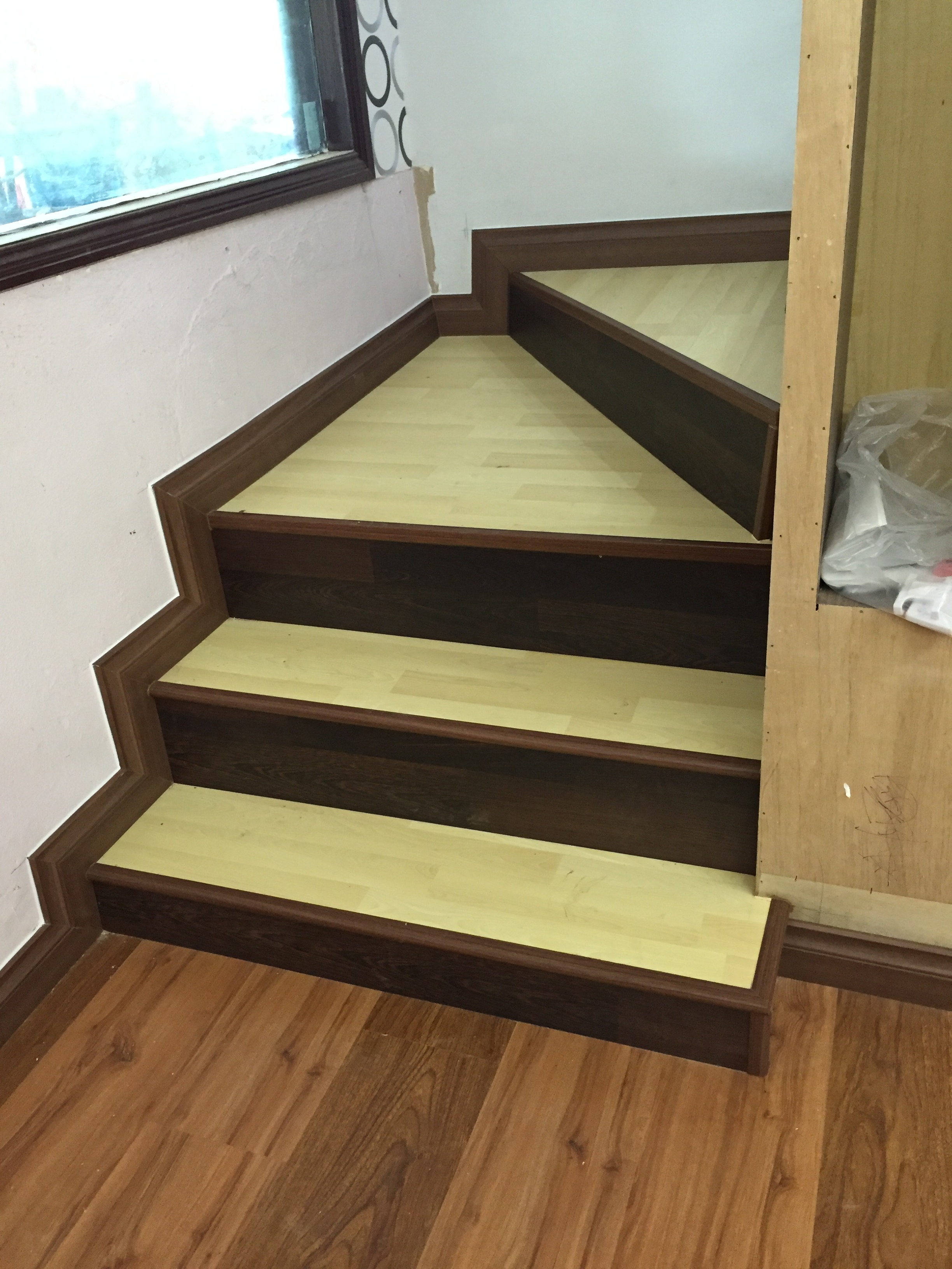 maple stair