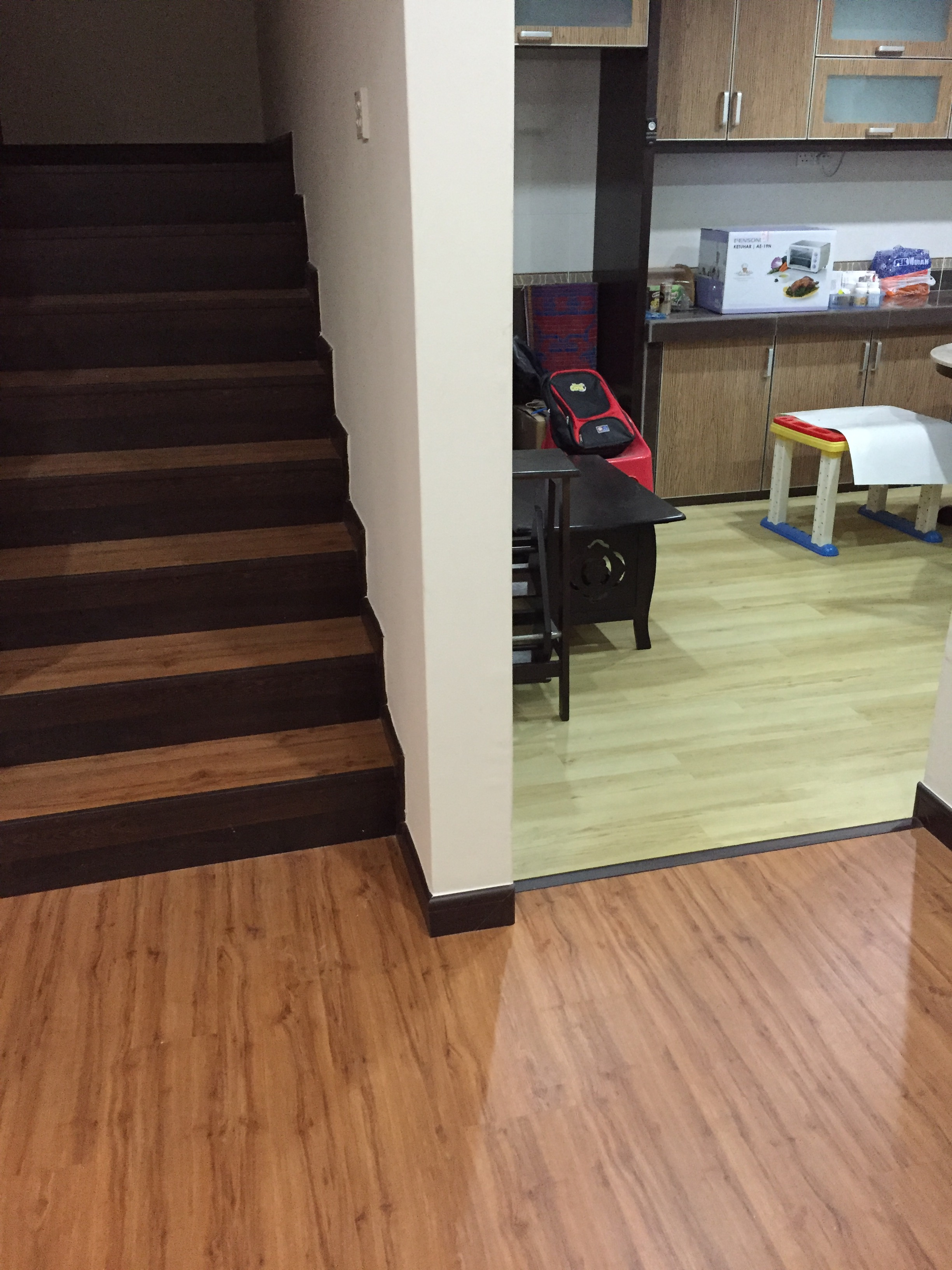 Laminate Floor and Vinyl