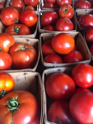 Quarts of vine-ripened tomatoes- YUM!