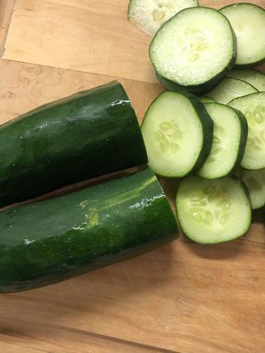 Fresh sliced cucumber