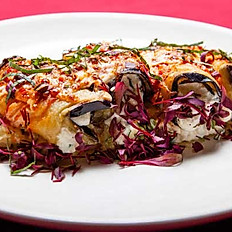 Eggplant Rolled with Risotto