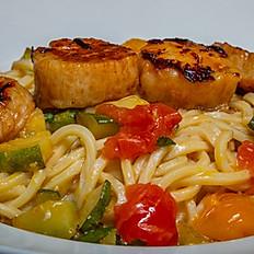 Spaghetti Scallops & Zucchini