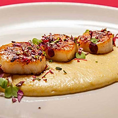 New England Scallops and Polenta