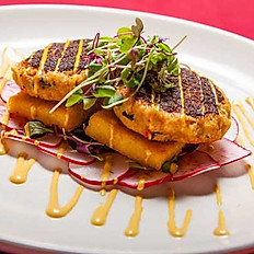 Crab Cakes and Grilled Polenta