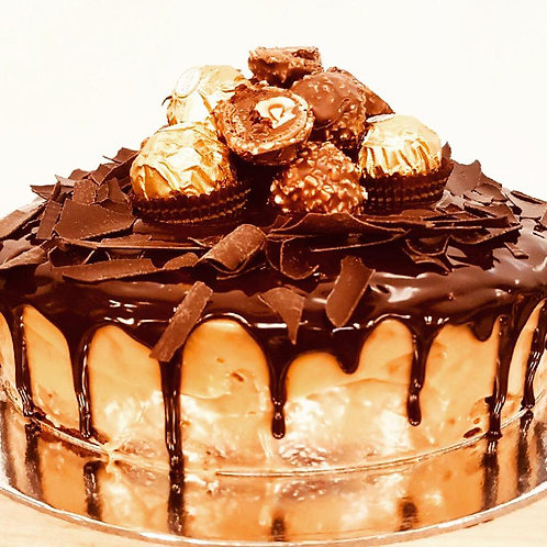 Cake with Drip & Ferrero Rocher