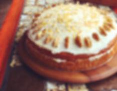 Carrot Orange Walnut Cake, Handmade, Free Range eggs
