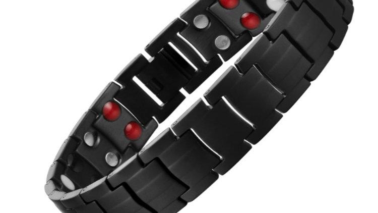 Mens Black- Double Strength Power Bracelet