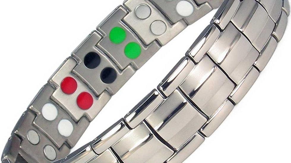 Men's Double Strength Power Bracelet  with Tourmaline