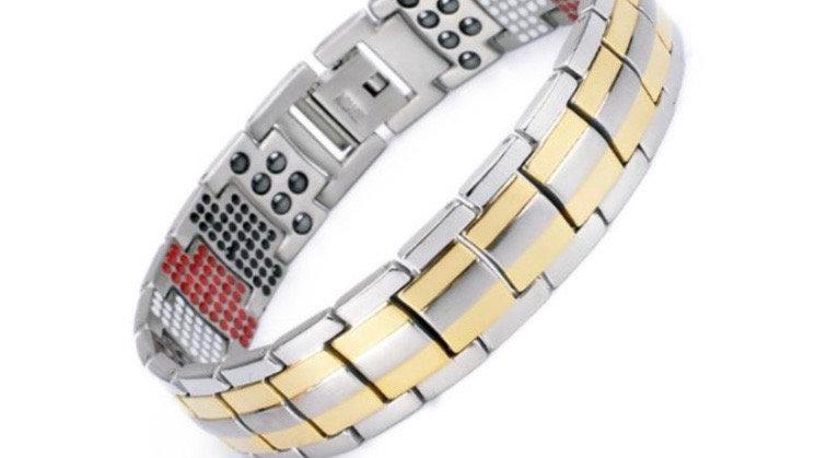 Silver & Gold Triple Strength Power Bracelet