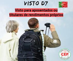Viver e trabalhar em Portugal - Visto para aposentados ou titulares de rendimentos próprios (D7)