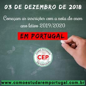 Como usar nota do enem em Portugal?