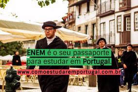 Como usar a nota do ENEM para estudar em Portugal