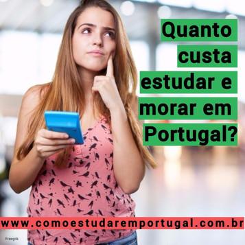 Quando custa estudar e morar em Portugal?