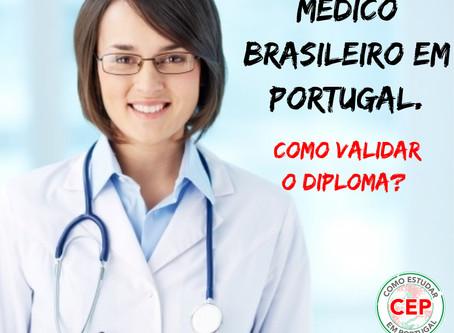 Como validar diploma de médico brasileiro em Portugal